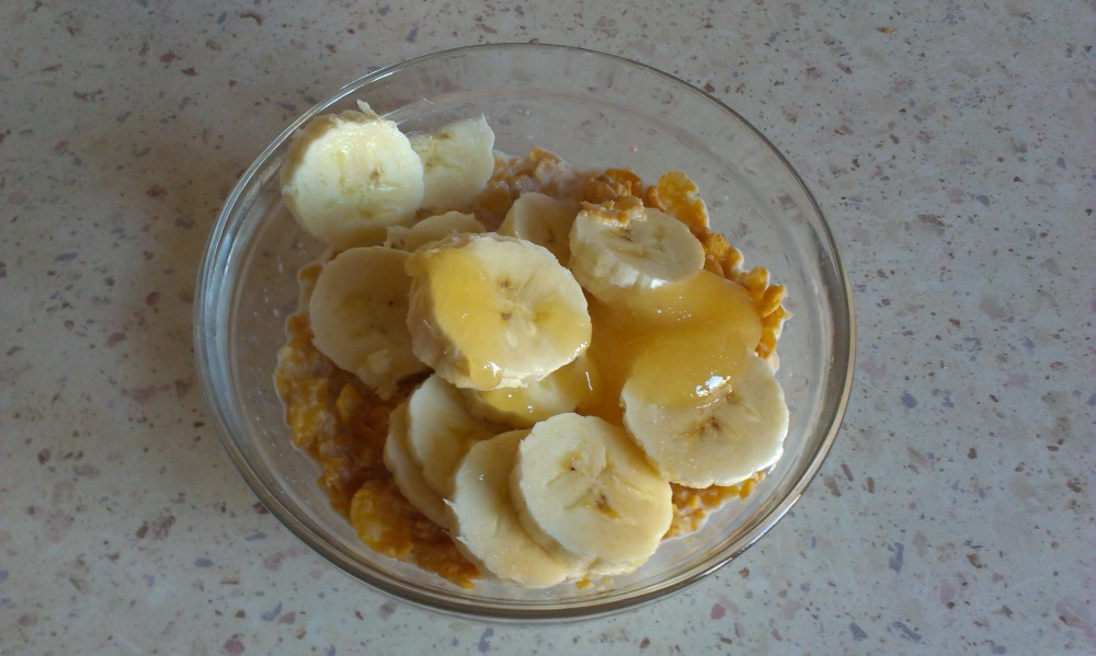 Завтрак из хлопьев