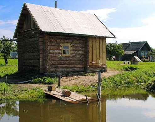 баня в деревне