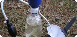 Способы очистки воды  в походе